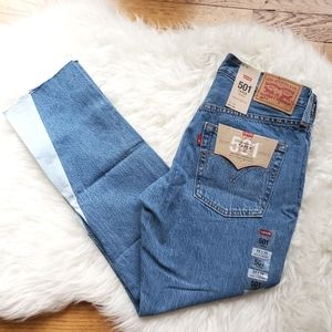 Levi's 501 NWT cropped taper mid rise jean